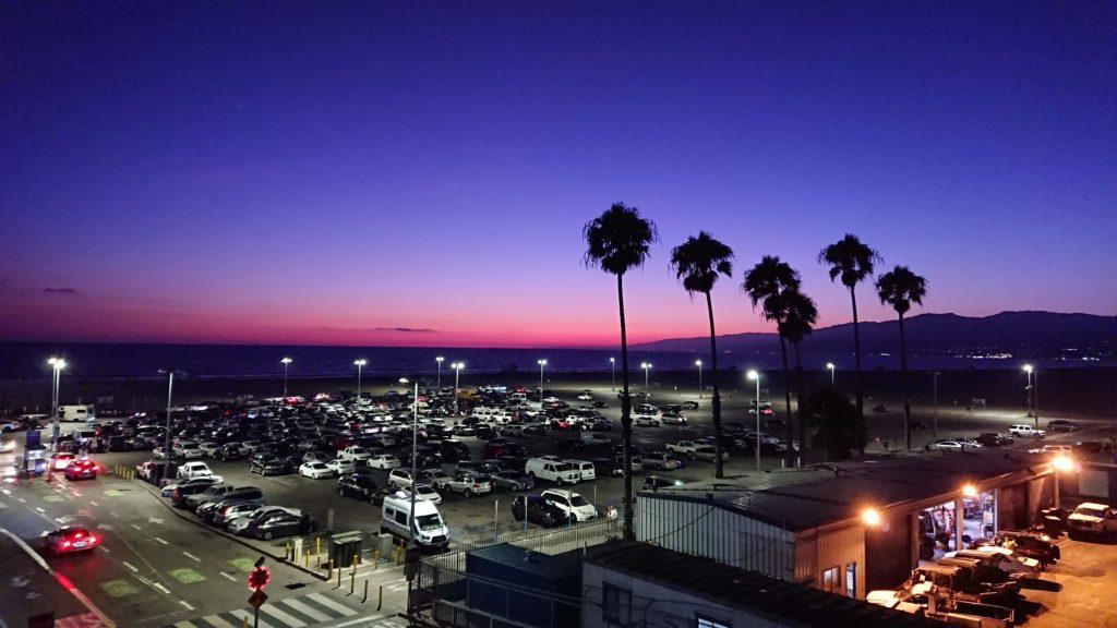 Santa Monica chwilę po zachodzie słońca