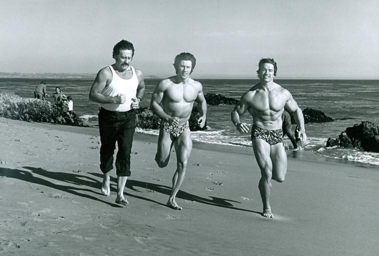 Arnold biegnący po plaży