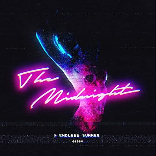 Neonowa okładka albumu muzycznego zespołu The Midnight Endless Summer