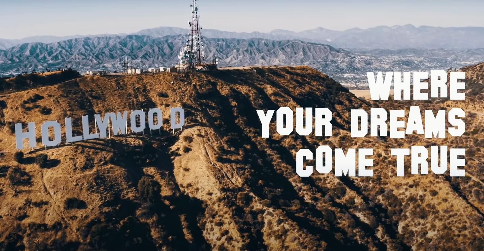Napis Hollywood na wzgórzach w Los Angeles
