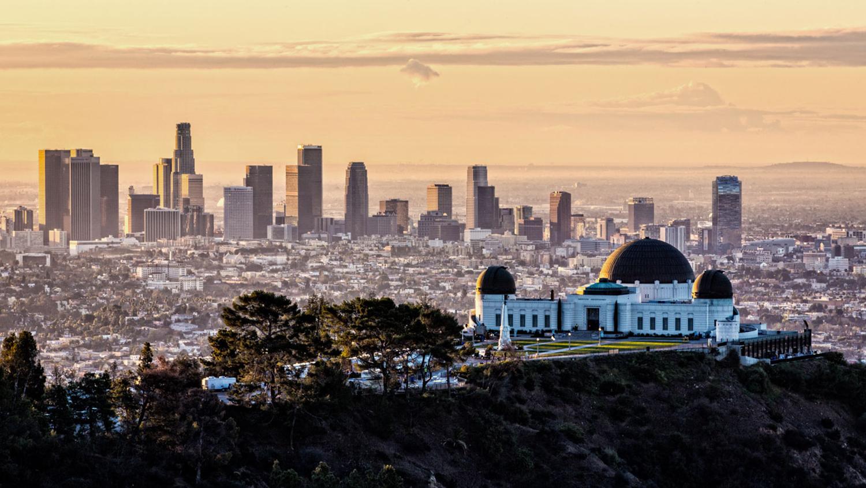 Los Angeles o zachodzie słońca