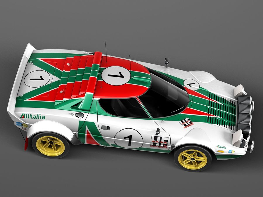 Lancia Stratos w malowaniu Alitalia