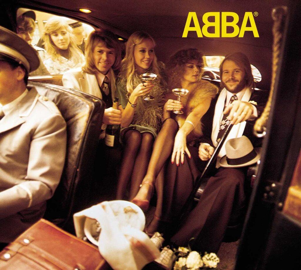 Zespół ABBA na oładce albumu ABBA