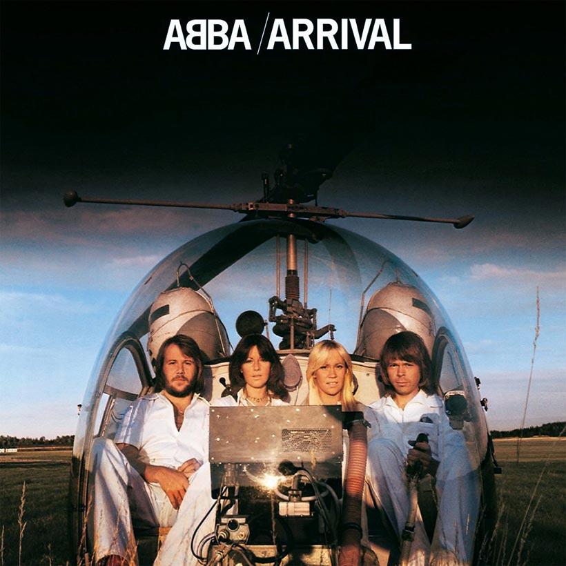 Zespół ABBA na oładce albumu Arrival