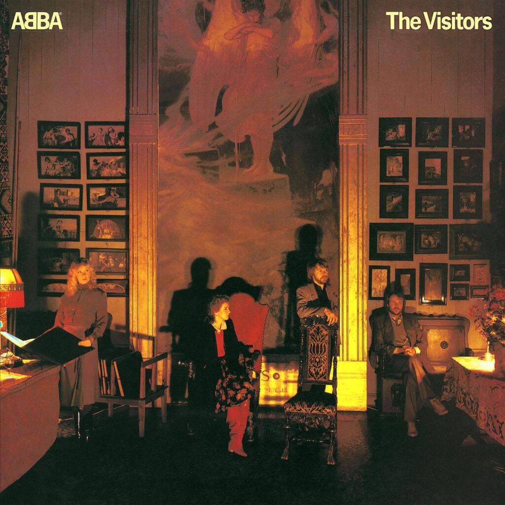 Zespół ABBA na okładce albumu The Visitors