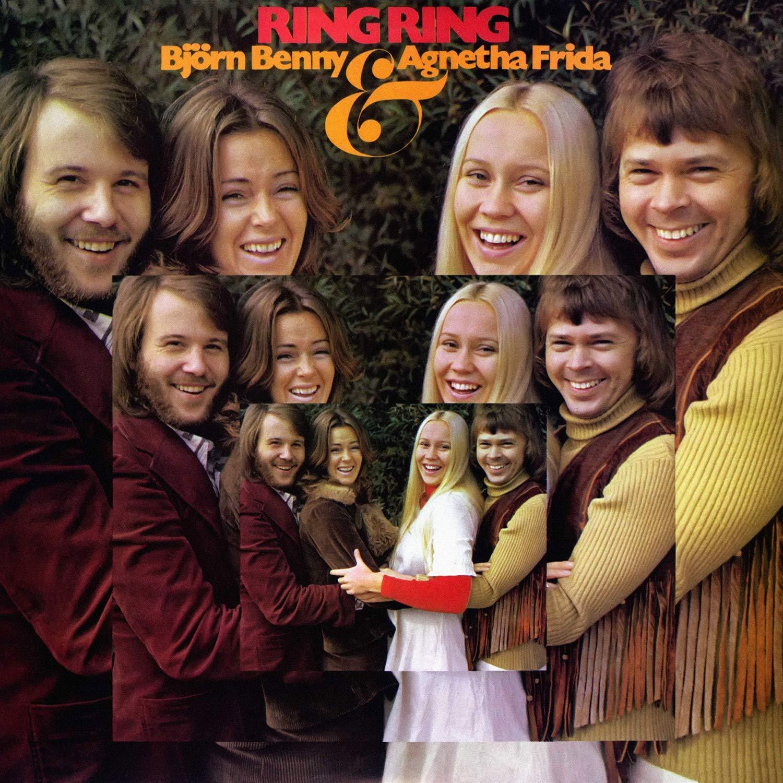 Bjorn, Benny, Agnetha i Frida ABBA na okładce płyty Ring Ring