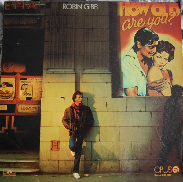 Robin Gibb na okładce płyty How old are you